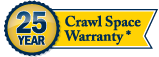 Mountain Crawl Space, Inc. has a 25 year Crawl Space Warranty.